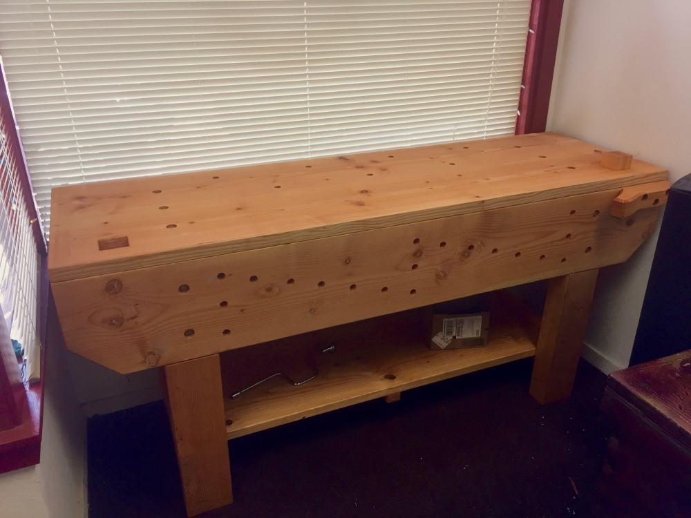 English Style Knockdown Workbench Fremont Occasional Woodworks